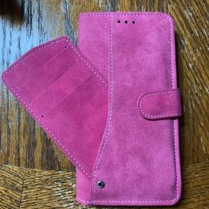 Suede lg g5 phone wallet case